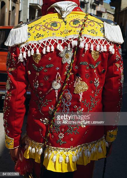Traditional costumes worn during the Feast of the Jews celebrated during Holy Week in Sanfratello Sicily Italy Detail
