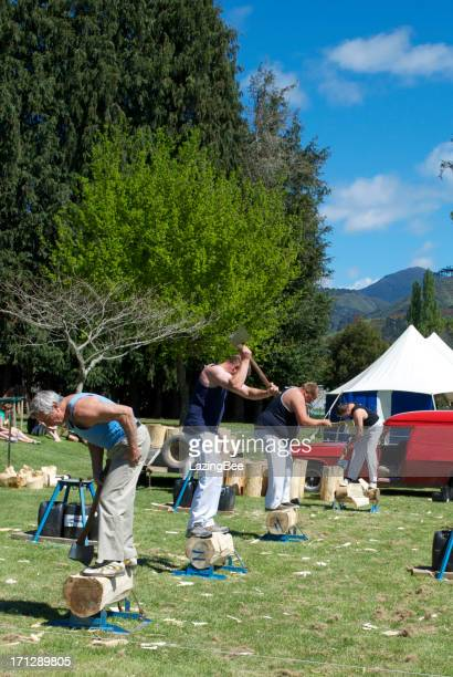 Traditional Country Fair Woodchopping Event