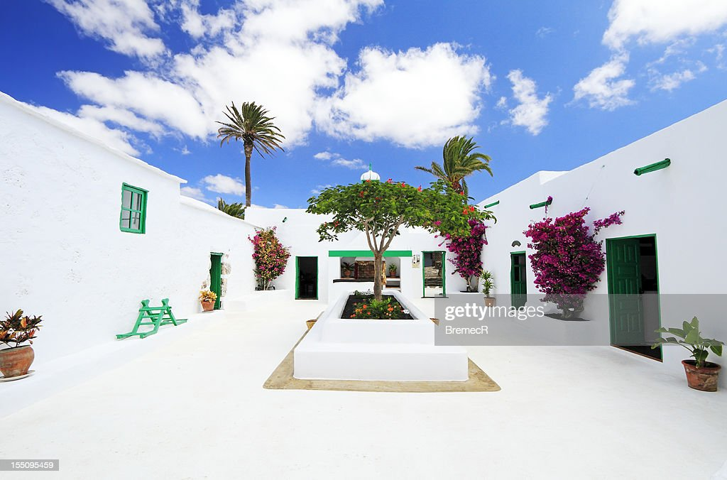 Traditional courtyard : Stock Photo