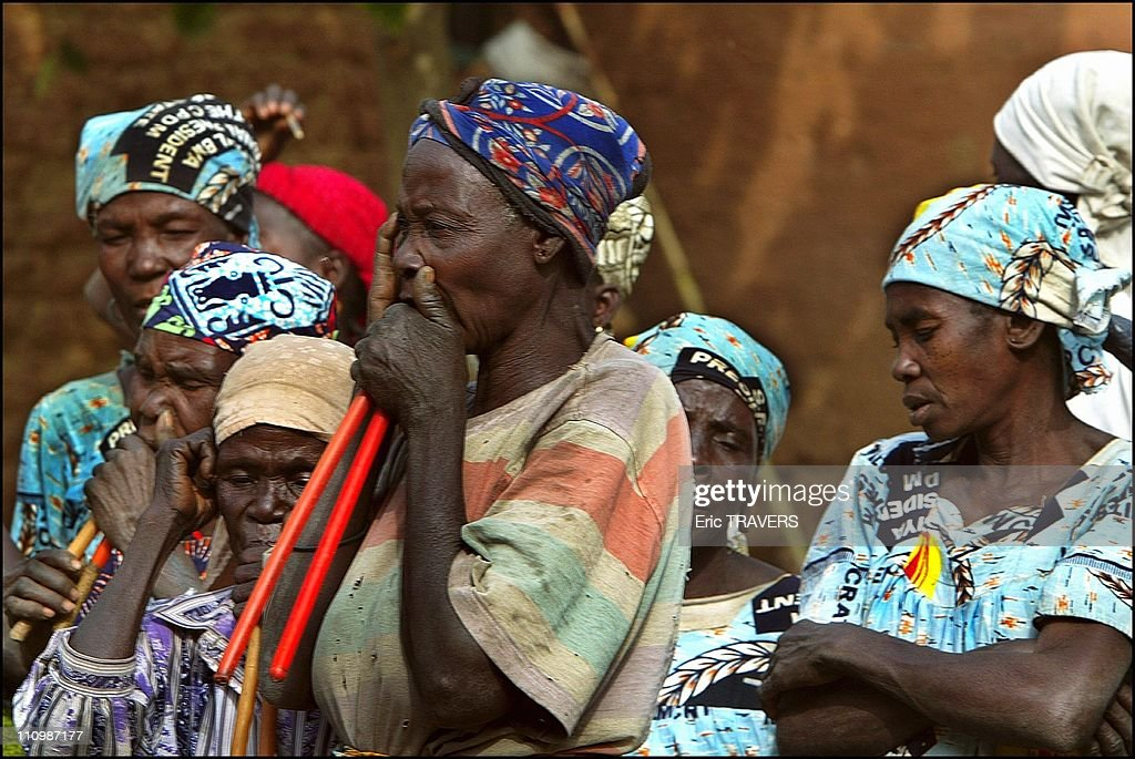 Life In Northern Cameroon : The Most Attractive Area In Oudjilla, Cameroon On December 27, 2003. : News Photo