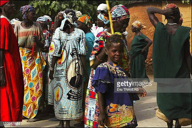 Traditional dance by the wives of the Village of Oudjilla chief in Oudjilla, Cameroon on December 27, 2003.