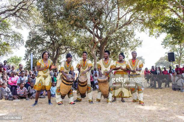 traditional dance group - zambia stock pictures, royalty-free photos & images