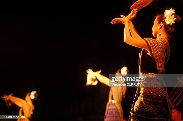 Traditional dance in Lanna festival in Chiang Mai, Thailand.