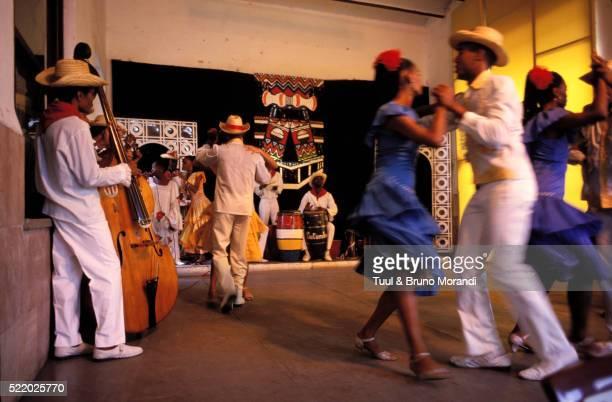 Traditional dancing in Santiago de Cuba