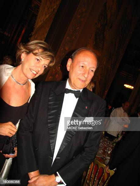 Traditional dinner of'' AROP chaired by JeanLouis Beffa gives in the foyer of the Palais Garnier in PARIS after the representation of 'Capriccio' the...