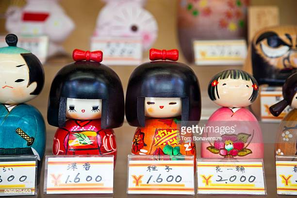 Traditional dolls for sale in Asakusa