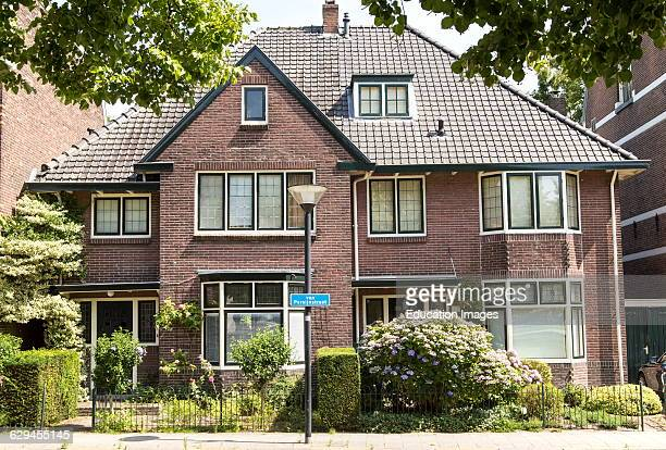 Traditional domestic architecture semidetached houses Amersfoort Netherlands