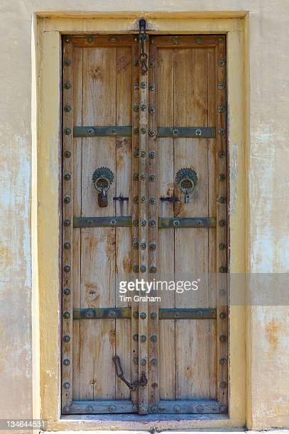 Traditional doorway at The Observatory in Jaipur Rajasthan Northern India