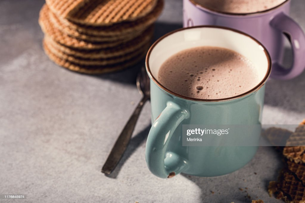 Traditional dutch cookies syrupwaffles : Stock Photo