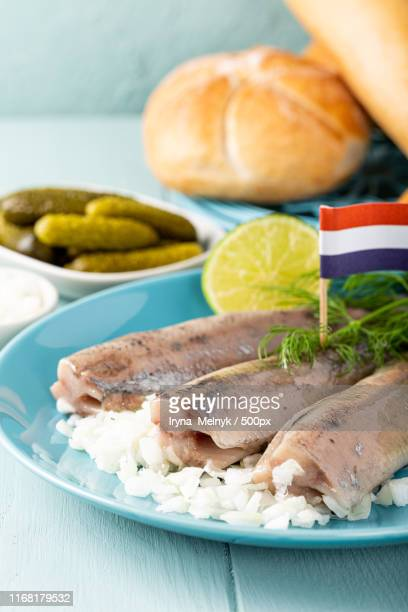 traditional dutch food herring fish - 漬けた ストックフォトと画像