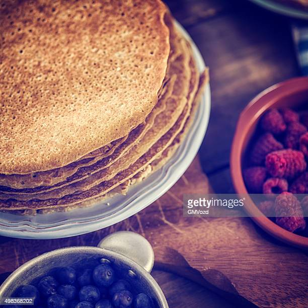 Traditional Dutch Pancakes - Pannenkoeken