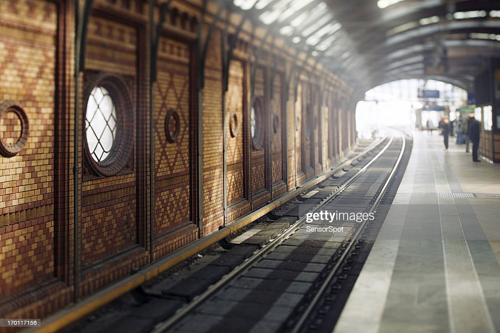 Traditional East Berlin Station : Stock Photo