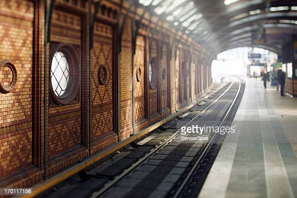 traditional east berlin station - railway station stock pictures, royalty-free photos & images