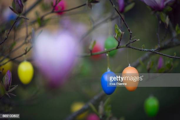 Traditional Easter tree decorations in Germany