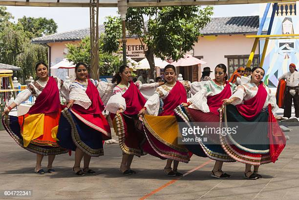 Traditional Ecuadorian dancers