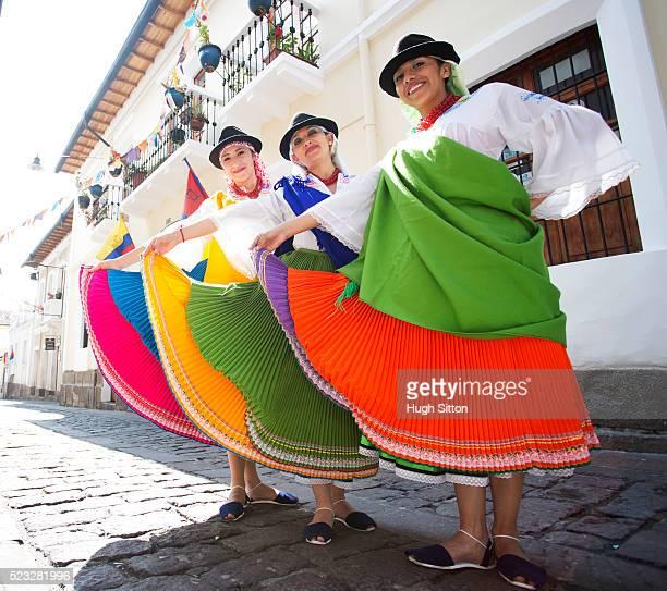 Traditional Ecuadorian dancers, Quito. Ecuador