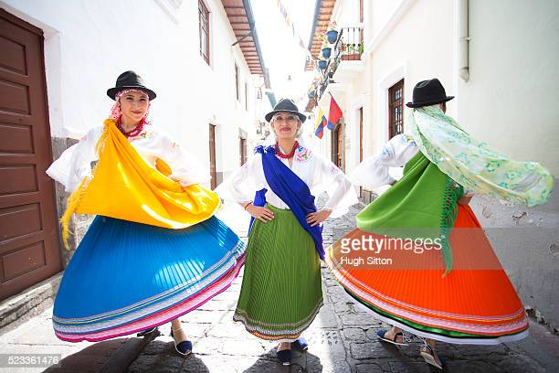 Traditional Ecuadorian dancers, Quito, Pichincha Province, Ecuador