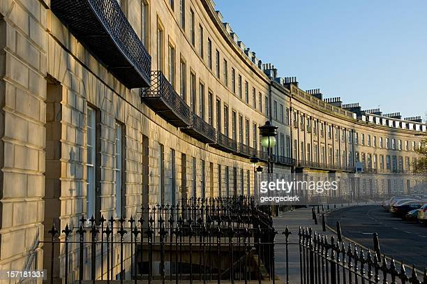 traditional edinburgh street - new town edinburgh stock photos and pictures