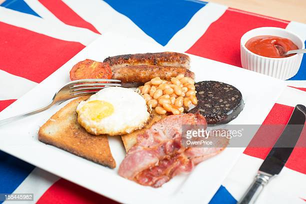 Traditional English British Fried Breakfast