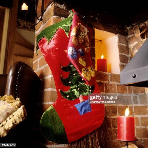 Traditional English Christmas interior decoration