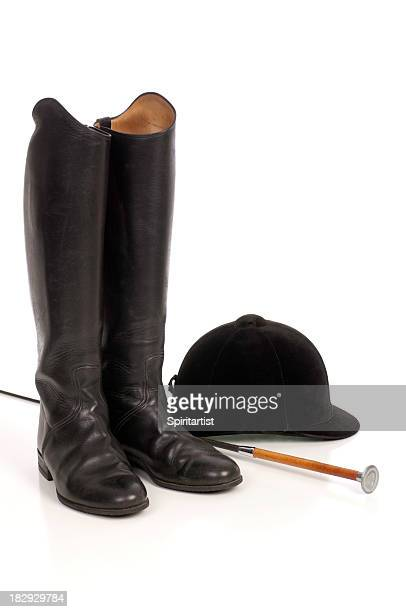 traditional english horseback riding equipment - riding hat stock pictures, royalty-free photos & images