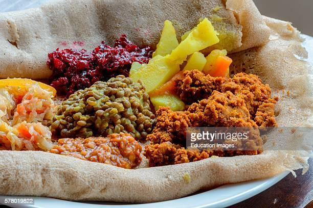 Traditional Ethiopian food Bale Mountains National Park Ethiopia