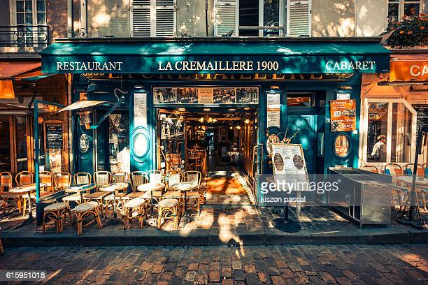 traditional European style restaurant in Paris in day , France