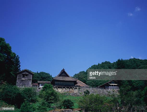 traditional farm house in iwate prefecture, japan - iwate prefecture stock pictures, royalty-free photos & images