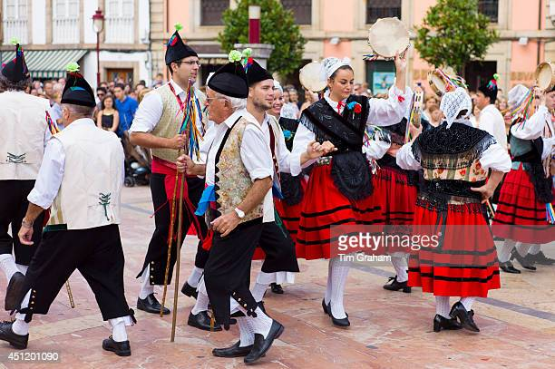 Traditional fiesta at Villaviciosa in Asturias Northern Spain