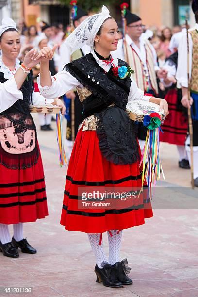 Traditional fiesta at Villaviciosa in Asturias Northern Spain