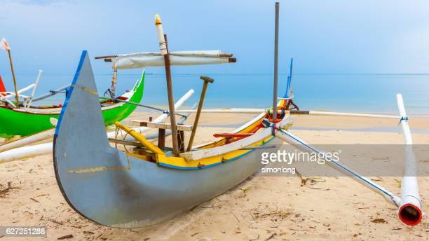 Traditional fishing boat in Bali,Indonesia