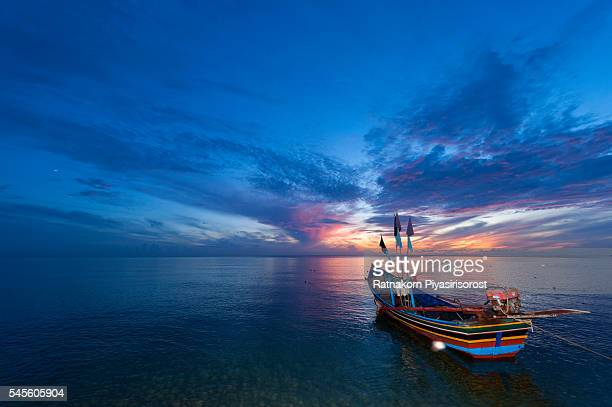 Traditional Fishing Boat in Songkhla Lake, Thailand