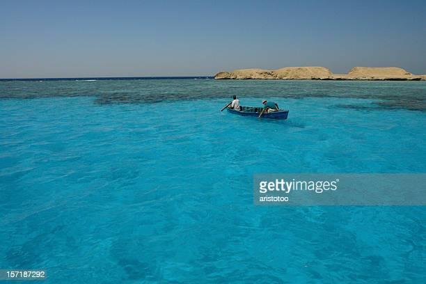 Traditionelle Fischerboot neben dem Giftun, Hurghada, Red Sea, Ägypten