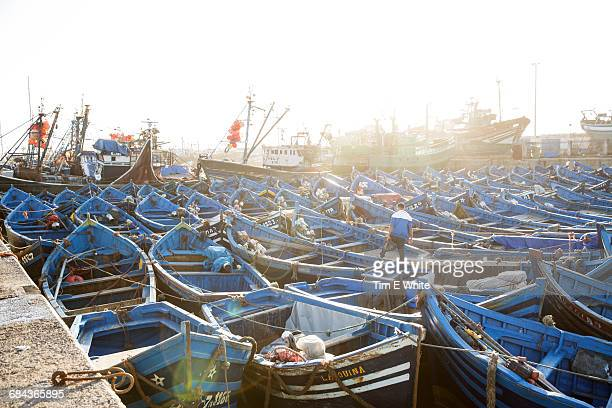 Traditional Fishing boats, Essaouria harbour, Moro