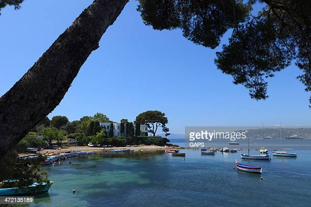 traditional fishing boats in Port de l'Olivette at Antibes