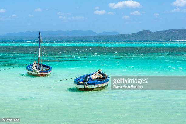 traditional fishing boats - pierre yves babelon madagascar stock pictures, royalty-free photos & images