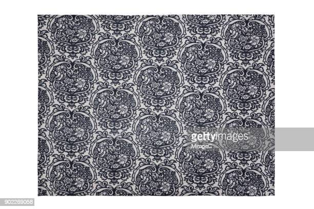 Traditional Floral Pattern Placemat on White