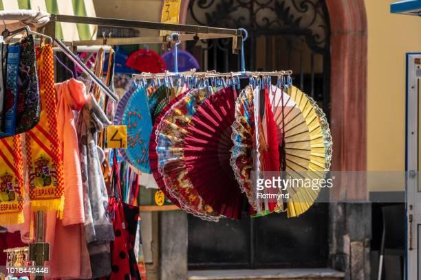 Traditional folding fans in Cadiz, Spain