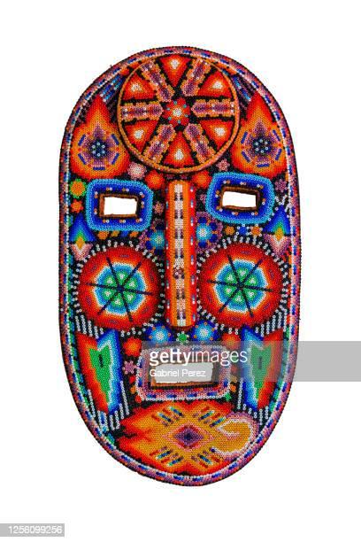 a traditional folk mask from mexico - cor saturada - fotografias e filmes do acervo