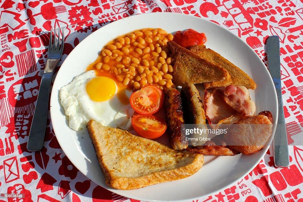 Traditional full English breakfast : Stock Photo