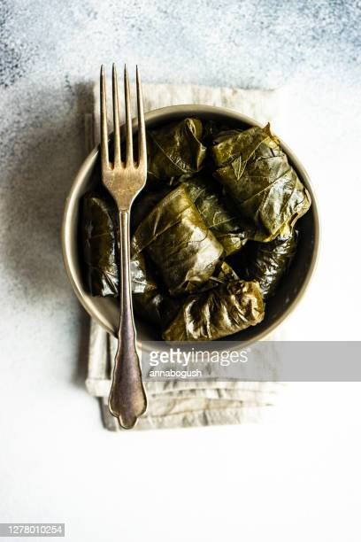 traditional georgian tolma dish - dolmades stock pictures, royalty-free photos & images