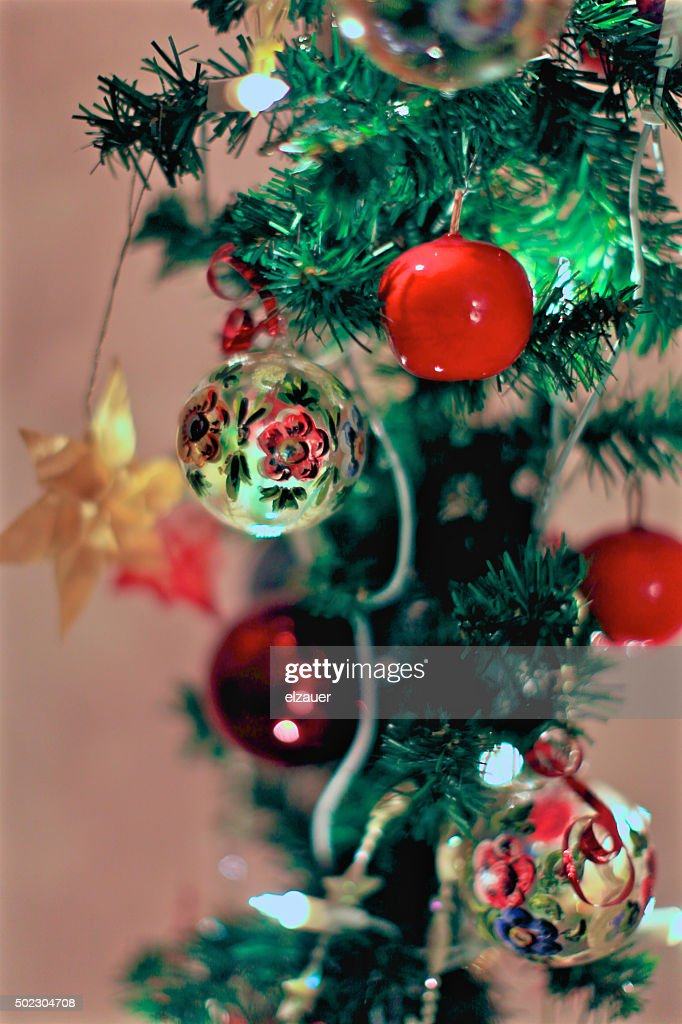traditional german christmas decoration stock photo