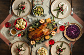 Traditional German Christmas dinner