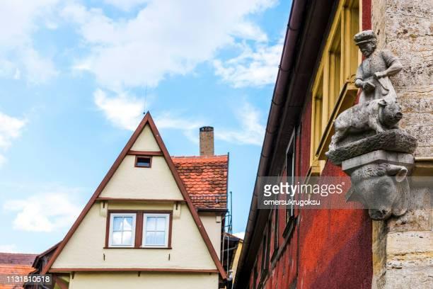 Traditional German houses in Rothenburg ob der Tauber, Bavaria, Germany