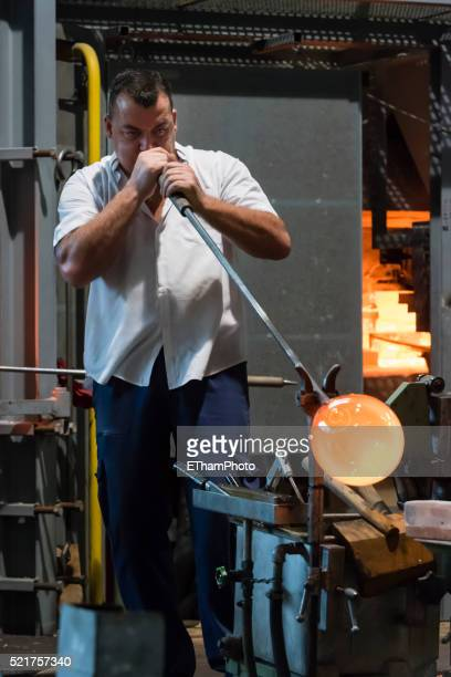 Traditional glass making / glass blowing