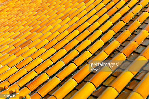 Traditional glazed roof in Beijng, China