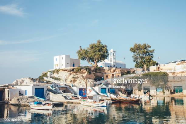 Traditional Greek Fishermen Village In Milos