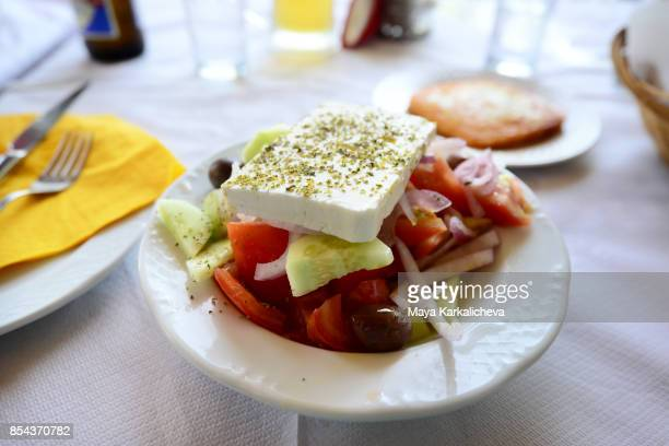 Traditional greek salad, Zagoria / Epirus, Greece