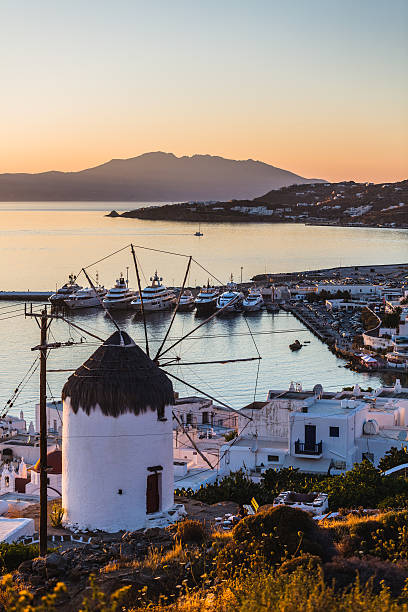 Traditional Greek Windmill in Mykonos