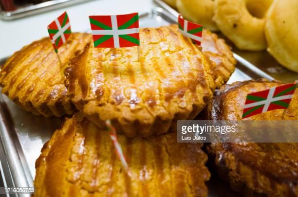 traditional gâteau basque cakes - バスク州 ストックフォトと画像